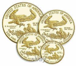 American Eagle 2021 Gold Proof Four-coin Set 21ef U. S. Mint Confirmed Order