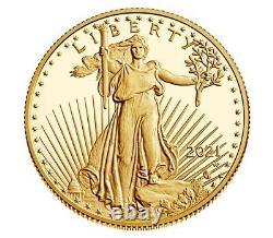 American Eagle 2021 One-half Ounce Gold Proof Coin 21ecn Confirmé Commande Monnaie Américaine