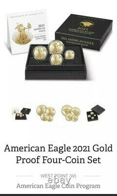 American Eagle 2021 Or Proof Four-coin Set Article # 21efn Confirmé! Menthe Oos