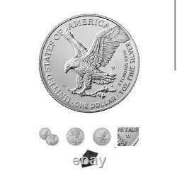 American Eagle 2021 Une Once Argent Non Circulé Pièce Lot De 3 Seeled