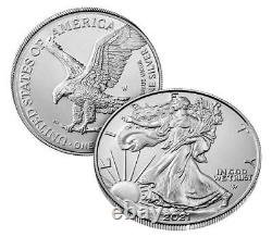 American Eagle 2021 W One Ounce Silver Coin 21egn Lot De 3 Seeled
