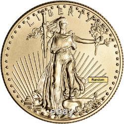 American Gold Eagle 1/2 Oz $25 Random Date 1 Roll 40 Bu Pièces Dans Le Tube De Menthe
