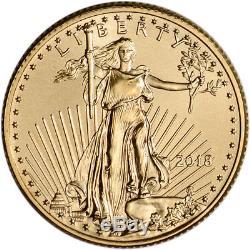 American Gold Eagle 2018 (1/4 Oz) Pièce De 10 Usd En Boîte-cadeau Aux États-unis