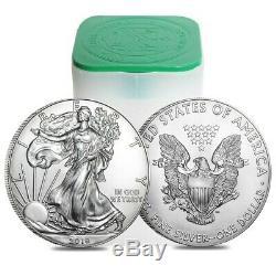 American Silver Eagle (1 Oz) 1 Rouleau Vingt Pièces De 20 Bu En Tube De Menthe