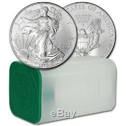 American Silver Eagle 2009 (1 Oz) 1 $ 1 Rouleau 20 Pièces De 20 Bu En Tube De Menthe