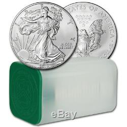American Silver Eagle 2013 (1 Oz) 1 $ 1 Rouleau Vingt Pièces De 20 Bu En Tube De Menthe
