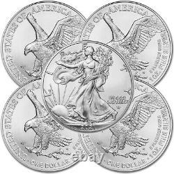 Beaucoup De 5 2021 1 Oz D'aigle Américain. 999 Argent Fine Bu Pièce (type 2) Marque Nouveau