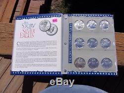 Collection Complète American Silver Eagles De 1986 À 2012, Officiel Us Mint