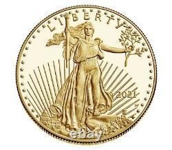 Commande De Menthe Confirmée 2021-w 1 Oz Proof Gold American Eagle 21eb