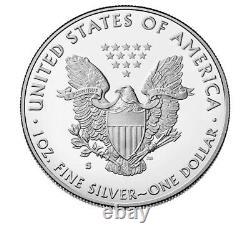 Eagle D'argent À La Preuve De 2020 Avec Ogp & Coa Vendu À La Monnaie