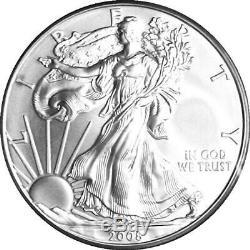 Eagle Pcgs Ms70 (sp70) Rev'07 Erreur Mint Rare 2008-w $ 1 En Argent Bruni