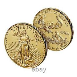 En Main American Eagle 2020 One Ounce Gold Uncirculated Coin 20eh Us Mint W