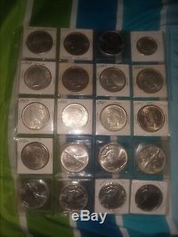 Énorme Collection Dollar Morgan Peace Aigle Atleast 10 Silver Coin Lot + Extras