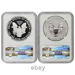 Ensemble De 2 Eagles D'argent 2012-s 1 $ Ngc Pf69 Et Pf69ucam Proof Rev Pr Sf Monnaie De Menthe