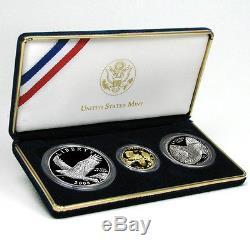 Ensemble De 3 Pièces Commémoratives De 2008 Pygargue À Tête Blanche / Scellées Dans La Boîte Originale À La Menthe Américaine