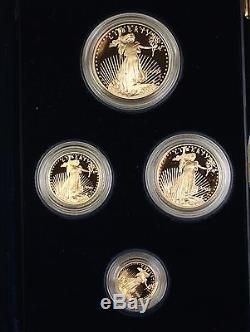 Ensemble De Pièces Justificatives Pro Eagle 2005 De La Pièce De Monnaie Américaine Us Gold Mint 2005, Tel Qu'émis Avec Box & Coa