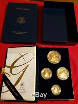 Ensemble De Preuve De Pièces De Monnaie 2004 American Bull Gold 2004 Avec Le Paquet Original Us Mint
