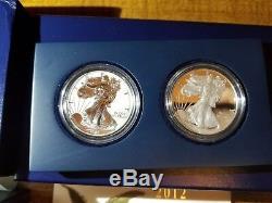 Ensemble Spécial Eagle Silver Silver Proof 75e Anniversaire 2 Pièces 2012