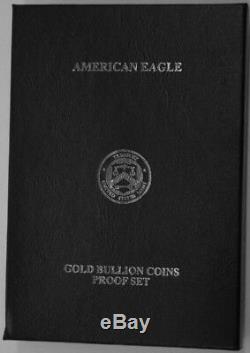 Épreuve De Pièces American Eagle Gold 4 Pièces 2012-w Us Avec CDC