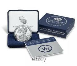Fin De La Seconde Guerre Mondiale 2 75e Anniversaire American Eagle Silver Coin Us Mint Unopened