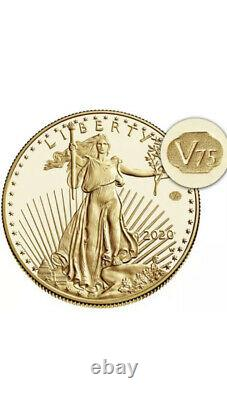 Fin De La Seconde Guerre Mondiale 75e Anniversaire American Eagle Gold Proof Coin Mint Sealed