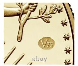Fin De La Seconde Guerre Mondiale 75e Anniversaire American Eagle Gold Proof Coin Monnaie Scellée