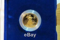 Frais 1991 $ 10.00 ¼ Once D'or Eagle In Coffret De Présentation Us Mint, Navire Libre