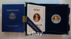 Fresh 1988 $ 10.00 $ 1/4 Once D'or Eagle In Coffret De Présentation Us Mint, Navire Libre