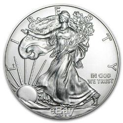 Lot 100 2015 1 Oz D'argent Eagles Américains (5 Tube Rouleau De 20) Navires Immédiatement