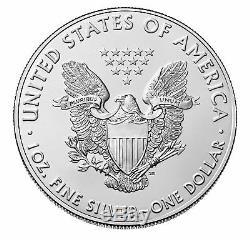 Lot De 100 2019 $ 1 1oz Silver American Eagle. 999 Bu
