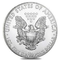 Lot De 100 Bu Silver Eagle De 1 Oz (année Aléatoire)