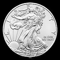 Lot De 100 Pièces D'argent American Eagle D'une Année Aléatoire À Un An
