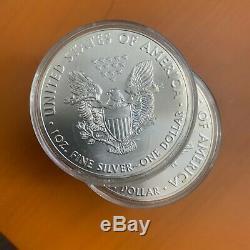 Lot De 10 2016 American Eagle 1 Oz. Pièce De Monnaie. 999 Amende Bu