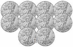 Lot De 10 2019 $ 1 1oz Silver American Eagle. 999 Bu