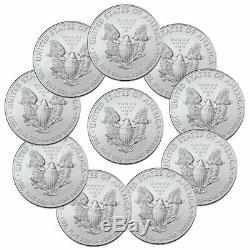 Lot De 10 2020 1 Oz American Eagle Argent $ 1 Pièces Gem Bu Presale Sku59439