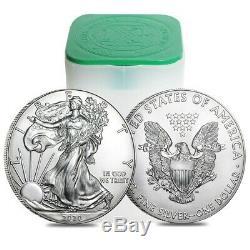 Lot De 10 2020 1 Oz D'argent American Eagle 1 $ Coin Bu