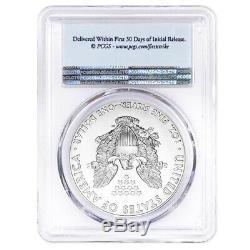 Lot De 10 2020 1 Oz D'argent American Eagle $ 1 Coin Pcgs Ms 70 Fs (étiquette Flag)