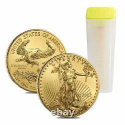 Lot De 10 2021 1/2 Oz Gold American Eagle $25 Coin Bu