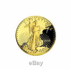 Lot De 10 $ 5 1/10 Oz Proof Gold Eagle Américain Capsule Seulement (date Aléatoire)