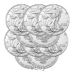 Lot De 10 Argent 2020 American Eagle 1 Oz Us Mint. 999 Argent Fin Eagles 1 Oz