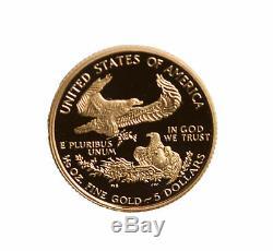 Lot De 10 Gélules American Eagle Eagle À Éprouver Seulement 5 $ (1 / 10oz) (date Aléatoire)