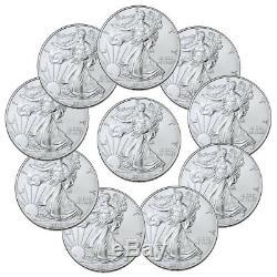 Lot De 10 Pièces De 1 2019 American Silver Silver Eagle Us $ 1 Gem Bu