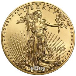 Lot De 200 2018 $ 10 American Gold Eagle 1/4 Oz Bu 5 Full Rolls