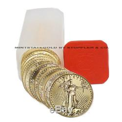 Lot De 20 $ 50 1 Once American Gold Eagles Bu Coins Aigle Brillant Universel