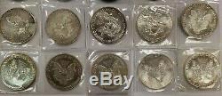 Lot De 20 American Silver Eagle 1 Oz Coins. 999 Onces Fines Livraison 20 Gratuit