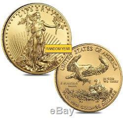 Lot De 2 1/2 Oz D'or American Eagle - Pièce De 25 $ Bu (année Aléatoire)