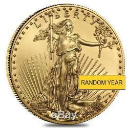 Lot De 2 1/4 Oz D'or American Eagle Pièce De 10 $ Bu (année Aléatoire)