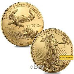 Lot De 2 1 Oz En Or American Eagle - Pièce De 50 $ Bu (année Aléatoire)