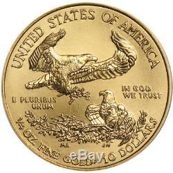 Lot De 2 2018 $ 10 American Gold Eagle 1/4 Oz Brillant Non Circulé