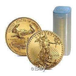 Lot De 2 2020 1/4 Oz D'or American Eagle Pièce De 10 $ Bu